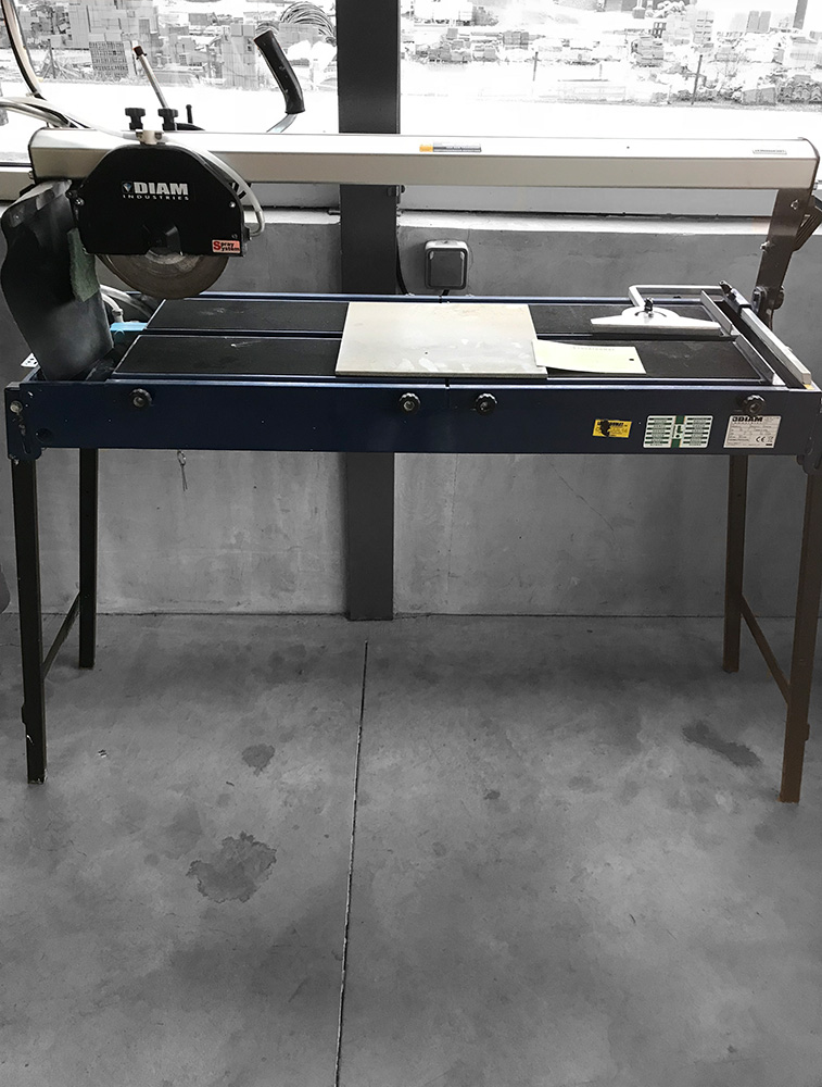 Panes cutter on table