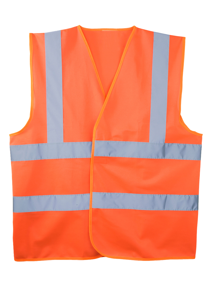 Orange high visibility waistcoat